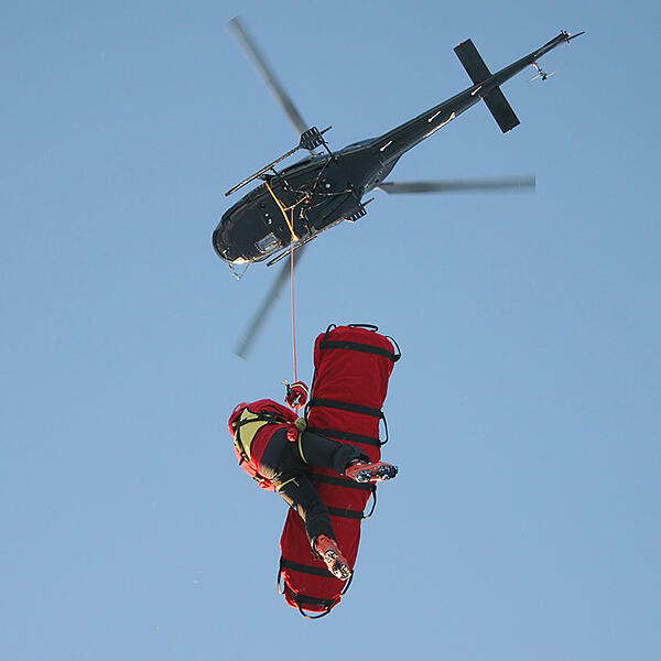 Helicopter rescue operation