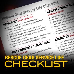 Roco's Rescue Gear Service Life Checklist
