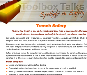 Toolbox talk English