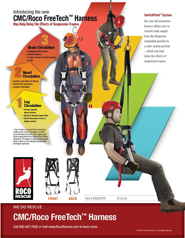 New FreeTech™ Harness May Help Delay the Onset of Suspension Trauma!